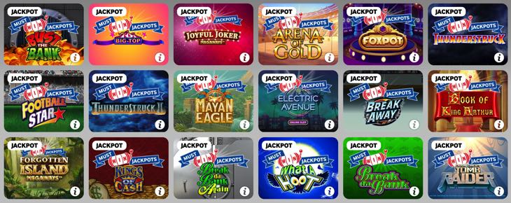 Selection of Must Win Jackpots