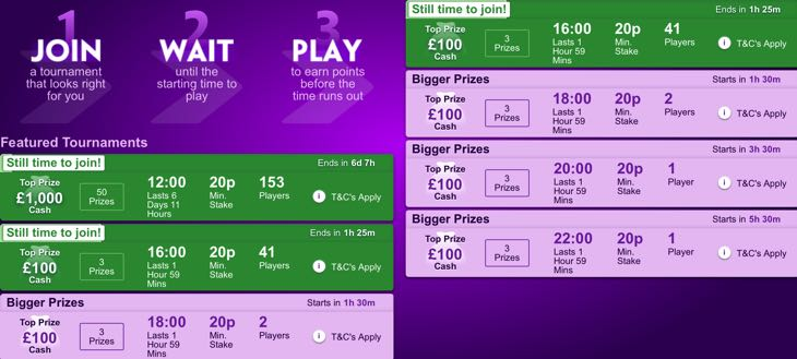 Slot tournament screenshot
