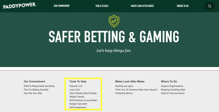 Paddypower Responsible Gambling