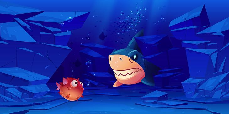 Shark versus fish